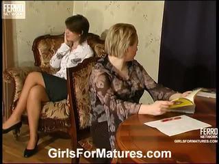 sex lesbiene, matures, porno mature
