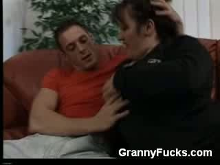 Busty Older Babe Gives Oral