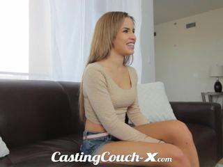 Casting couch-x endah cali prawan nervous to do porno
