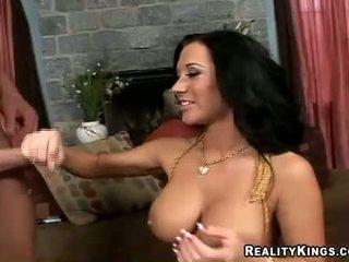 brunete, blowjobs, liels penis