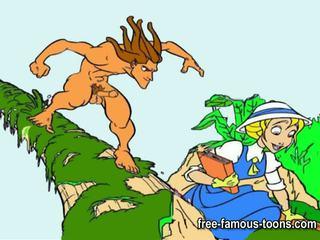 Tarzan і підліток jane хардкор оргія