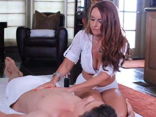 Pretty mom in sexy lingerie sucking fat penis