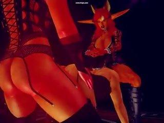 Regină dane & gajeel - forțat feminazation în hell