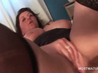 Huge titted mature BBW masturbating her bald fat