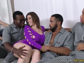 Sara jay gets ganbanged par noir dudes