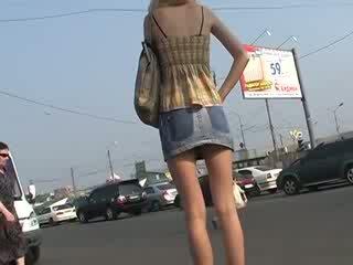 Nice acquaintance with amatir up skirts