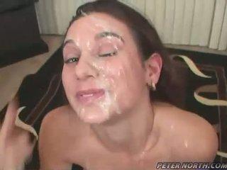 Pleasing beauty jackie ashe engulfing weenies og takes en rotete ekkel facials