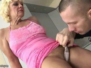 Hot granny enjoys hard fucking