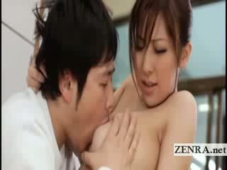 Big titty jepang sultress harumi asano has melons suckled