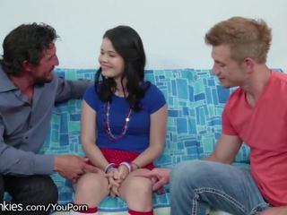 Yhivi Double Penetrated by New Stepdad and Stepbro