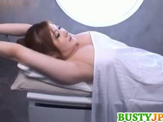 Momoka busty is aroused over oil