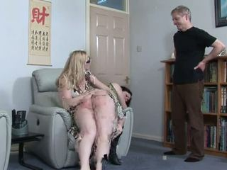Plump prawan spanked by lik and oom, porno 43