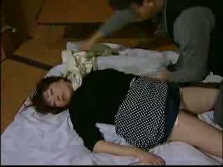 japonês, fora, dona de casa
