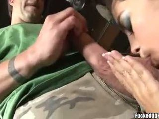 Lusty cock lover Gigi Rivera takes one cock at a time in her mouth and loves it