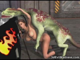 3d ragazza impaled da alieno dragon