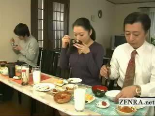 Subtitled dīvainas japānieši bottomless nē apakšbiksītes ģimene