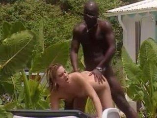 Putih isteri fucks dengan orang peranchis hitam dalam warga jamaica
