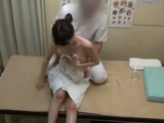 brunetă, japonez, atingere cu degetul