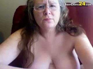 Chất béo xấu xí bà uses giới tính đồ chơi đến masturbate