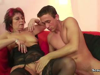 Mom in lingerie fuck hardcore young bo...