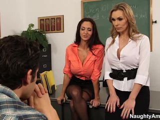 Big Titted Teachers Seduce Their Learner In Sexy 3 Some