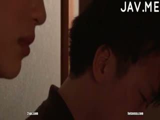 brunete, japānas, cumshot