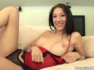 Kira Croft works out rod orally