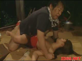 Jap av فتاة gets pulled خارج إلى جنس