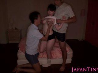 japonez, sex în trei, hd porno