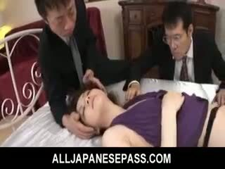 Rina koizumi חם אסייתי מודל ב סקסי גרביוני נשים gets מזוין