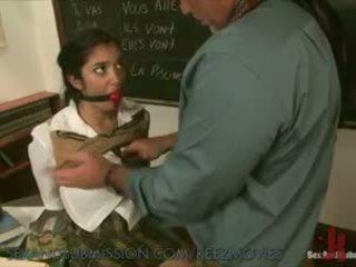 Szexi diáklány learns új lesson