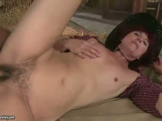 Naughty hairy granny gets fucked hard
