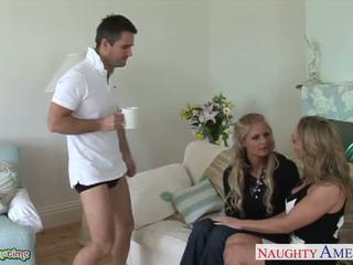 menyeronokkan blowjobs, blondes, percuma threesomes menonton