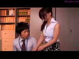 مفلس مكتب سيدة مع نظارات getting لها الثدي rubbed nippl