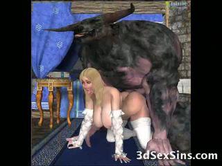 E shëmtuar creatures qij 3d babes!