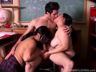 Paffuto babes su trio