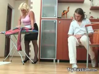 Fat Russian Woman Wants His Dick In Her
