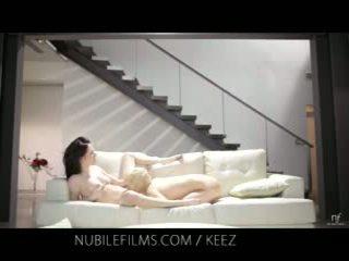 Aiden ashley - nubile films - lesbian lovers share manis burungpun juices