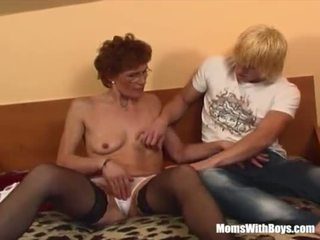 Redhead Grandma In Laced Stockings Fucks Young Dick <span class=duration>- 20 min</span>
