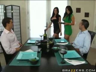 free brunettes channel, hq foursome clip, hot vid