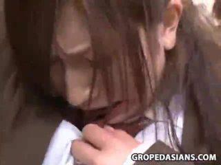 Innocent дівчина примусовий секс на a потяг