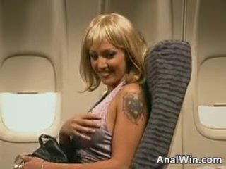 Stewardess Anal Fucking On The Plane