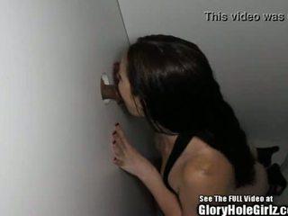 Lactate stripper slet sucks en fucks in glory hole