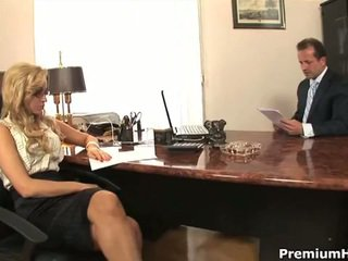 Aleska diamond fucks her boss to save her job
