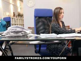 امرأة سمراء, جنس, مكتب