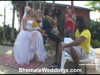 Alessandra transsexuál nevěsta na video