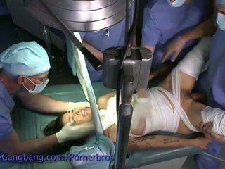 Lovely brunet gets fucked during surgery