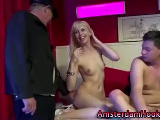 Amsterdam real whore gets a cumshot