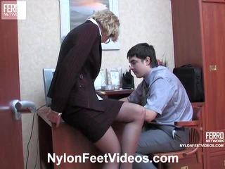 Christie e adam kewl collants pés actionion