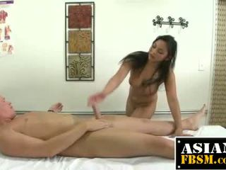 Asian Masseuse Works For Sticky Cum